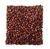 Kwadrat od Coffe fasoli Zdjęcie Royalty Free
