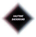 Kwadrat overlayed halftone tło Obraz Stock