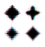 Kwadrat overlayed halftone tło Zdjęcia Royalty Free