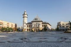 Kwadrat przed urzędem miasta w Buzau Fotografia Stock