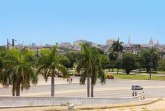 Kwadrat rewolucja i panorama śródmieście Hawański Fotografia Stock