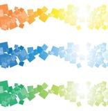 kwadrat sztandaru kwadrat ilustracja wektor
