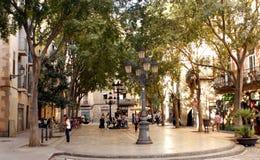Kwadrat w Barcelona Fotografia Royalty Free