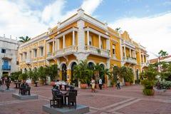 Kwadrat w Cartagena, Kolumbia Zdjęcia Stock