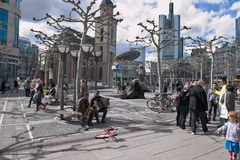 Kwadrat w Frankfurt Obraz Royalty Free