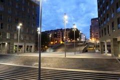Kwadrat w mieście Bilbao Hiszpania Obrazy Royalty Free