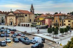 Kwadrat w Peschiera Del Garda fotografia royalty free
