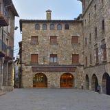 Kwadrat w średniowiecznej wiosce Baga Zdjęcia Stock