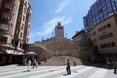 Kwadrat w Santander, Cantabria, Hiszpania Zdjęcie Stock