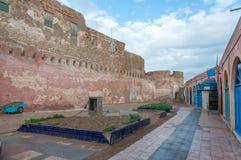 Kwadrat w starym miasteczku Essaouira Zdjęcia Royalty Free