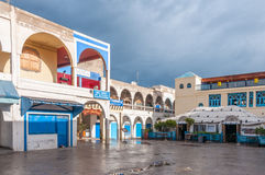 Kwadrat w starym miasteczku Essaouira Zdjęcie Royalty Free