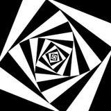 Kwadrat wiruje czarny i biały abstrakcjonistycznego tło ilustracja wektor