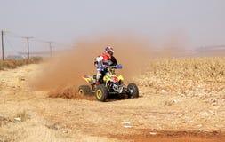Kwadrata rower kopie up ślad pył na piaska śladzie podczas zlotnych akademii królewskich Zdjęcie Stock
