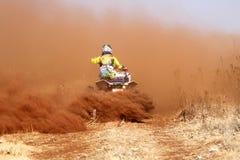 Kwadrata rower kopie up ślad pył na piaska śladzie podczas zlotnych akademii królewskich Obraz Stock