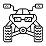 Kwadrata roweru ikona ilustracja wektor