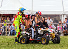 Kwadrata roweru wyczyn kaskaderski zdjęcia royalty free