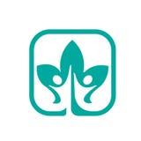 Kwadratowa App zdrowie liścia ikona zdjęcie royalty free