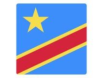 Kwadratowa flaga Demokratyczna republika Kongo royalty ilustracja