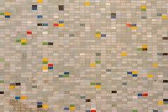 Kwadratowa kolorowa brzmienia i wzór mozaiki płytek kształta przypadkowa tekstura z plombowaniem Zdjęcia Royalty Free