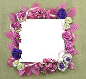 Kwadratowa kwiat rama Fotografia Royalty Free