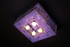 Kwadratowa lampa Fotografia Stock