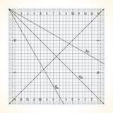 Kwadratowa przejrzysta władca dla pikować ilustracji