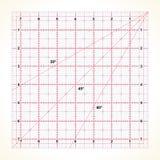 Kwadratowa przejrzysta władca dla pikować ilustracja wektor