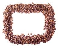 Kwadratowa rama od kawowych fasoli Zdjęcie Stock
