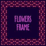 Kwadratowa rama robić z kwiatami Obrazy Royalty Free
