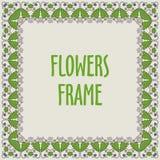 Kwadratowa rama robić z kwiatami Fotografia Royalty Free