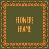 Kwadratowa rama robić z kwiatami Zdjęcie Stock