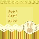 Kwadratowa rama z małym królikiem Fotografia Royalty Free