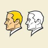 Kwadratowa szczęki twarz Obraz Royalty Free