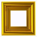 Kwadratowa złota ramy 3d ilustracja Obraz Royalty Free