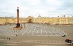 kwadratowa zimowy pałac Fotografia Stock