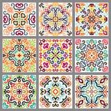 Kwadratowe Dekoracyjne płytki Ustawiać ilustracja wektor