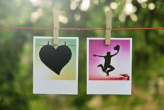 Kwadratowe fotografii karty zdjęcie royalty free