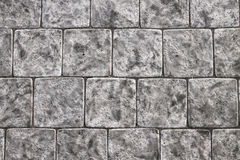 Kwadratowe kamienne szarość płytki Fotografia Royalty Free