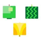 Kwadratowe Owocowe serie 3 Zdjęcia Stock