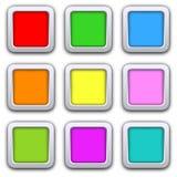 Kwadratowe puste ikony Fotografia Royalty Free