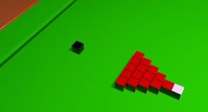 Kwadratowe snooker piłki Zdjęcia Royalty Free