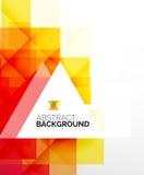 Kwadratowego kształta abstrakcjonistyczni układy, biznesowy szablon ilustracja wektor