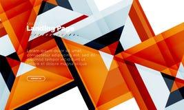 Kwadratowego kształta geometryczny abstrakcjonistyczny tło, ląduje strony sieci projekta szablon royalty ilustracja