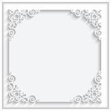 Kwadratowego papieru rama Zdjęcie Royalty Free
