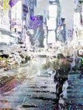 kwadratowi nyc czas Obrazy Stock