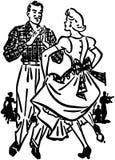 Kwadratowi tancerze 2 royalty ilustracja