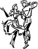 Kwadratowi tancerze ilustracji