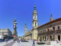 """Kwadratowy â⠂¬Å """"Pilar â⠂¬Å """", Zaragoza, Hiszpania zdjęcie stock"""