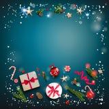 Kwadratowy świąteczny szablon zdjęcia royalty free