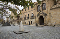 Kwadratowy Carlos III Olite Zdjęcia Stock